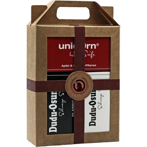 Unicorn Geschenk-Set unicorn Haarseife 100g + Dudu Osun Classic & Pur
