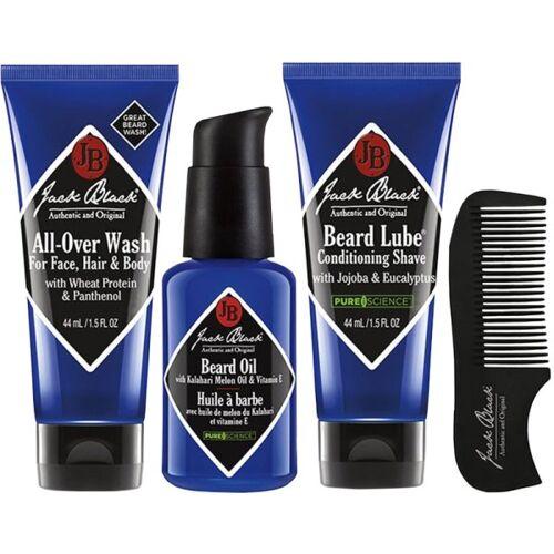 Jack Black Beard Grooming Kit (Beard Wash 44mL, Beard Oil 30 mL, Bear