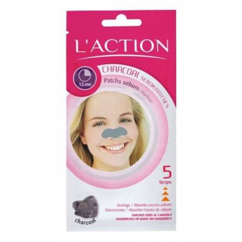 L'Action Charcoal Sebum Patches - Mitesser-Strips 5er Pack Mitesser S