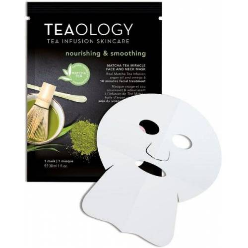 TEAOLOGY Masks Matcha Tea Miracle Face And Neck Mask 30 ml Tuchmaske