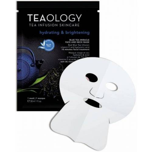 TEAOLOGY Masks Blue Tea Miracle Face And Neck Mask 30 ml Tuchmaske