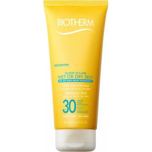 Biotherm Fluid Wet Skin LSF30 200 ml Sonnencreme
