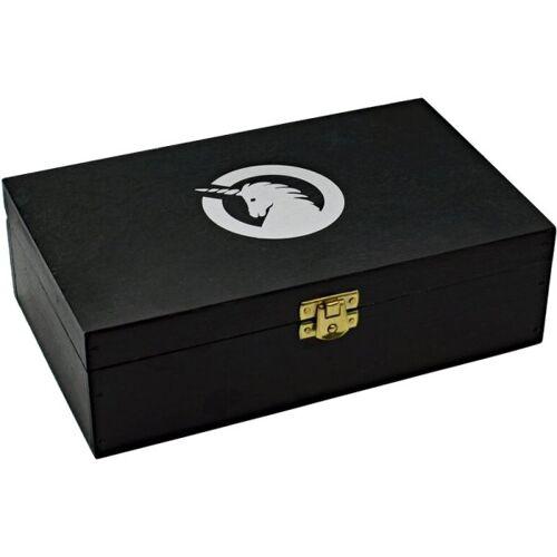 unicorn Holzkiste mit Einhorn Logo Aufbewahrungsbox