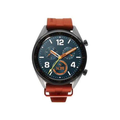Huawei Watch GT Active grau mit Silikonarmband orange grau