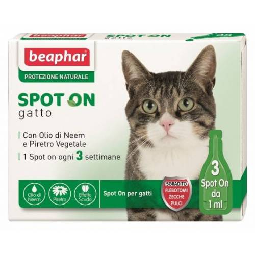 Beaphar Cat Spot On Naturlicher Schutz 3x1ml