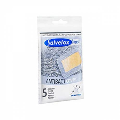 ALFASIGMA SpA Salvelox Med Antibact Antibakteriell Pflaster Packung mit 5 Patches