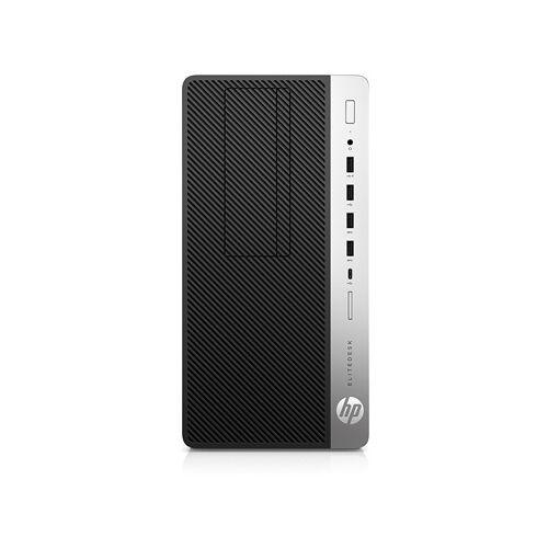 HP EliteDesk 705 G4 Microtower-PC mit AMD Radeon™ RX 550 Grafikkarte + EliteDisplay mit integriertem Lautsprecher
