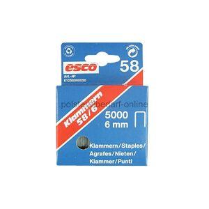 polstereibedarf-online Klammern Esco Länge 6mm Typ 58/6 5000 Stk. Stahl