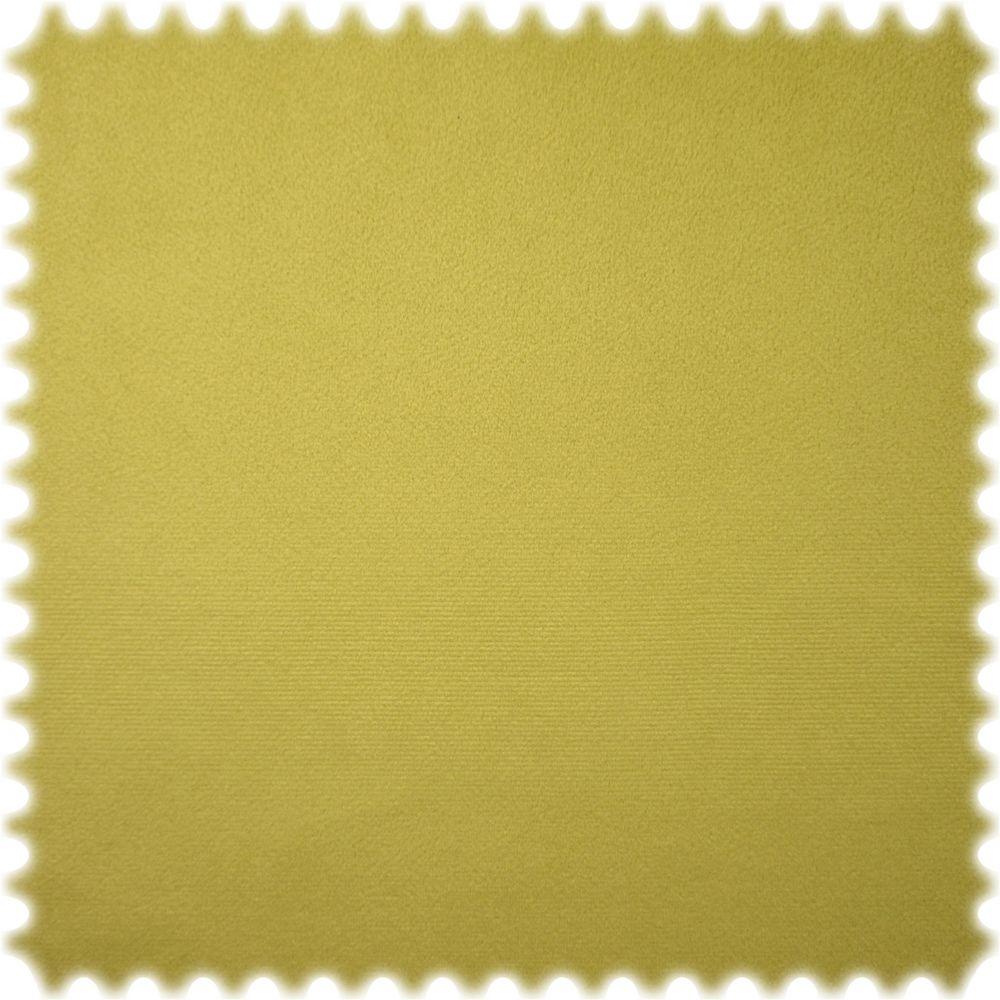 polstereibedarf-online Samt Velours Möbelstoff Uni Lime mit Fleckschutz
