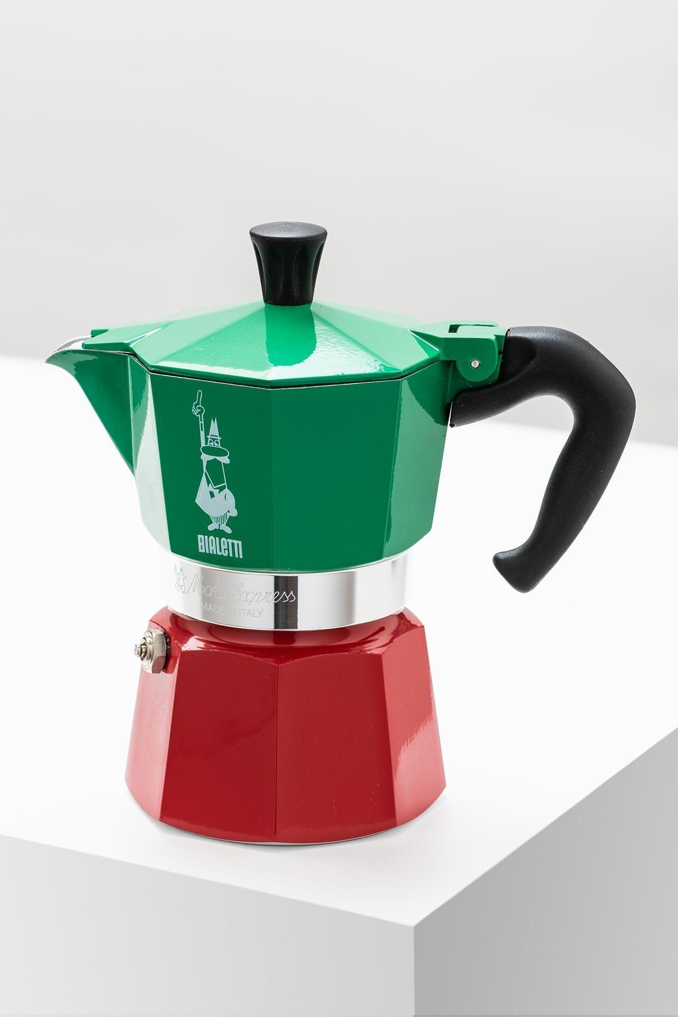 Bialetti Espressokocher Moka Express Tricolore 3 Tassen