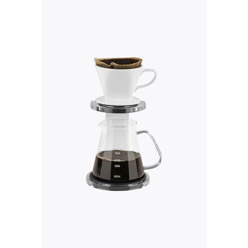 BEEM Kaffeebereiter Set Pour Over 3-tlg. 650ml Weiß/Acryl