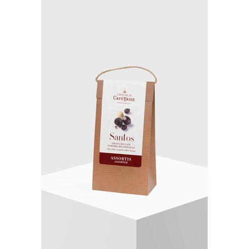 Café Tasse Kaffeebohnen Santos mit Schokolade gemischt