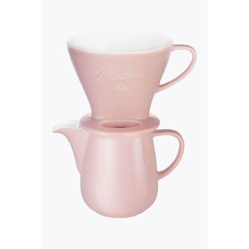 Melitta® Bundle Kaffeefilter Porzellan 1x4 + Kaffeekanne 0,6l Rosé