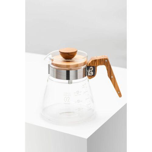 Hario Coffee Server 600ml Olive Wood Glaskanne
