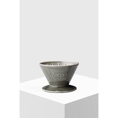 Kinto Kaffeefilter aus Porzellan 4 Tassen grau