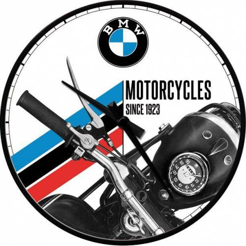 ART Wanduhr Nostalgic-Art Wanduhr BMW - Motorcycles Since 1923
