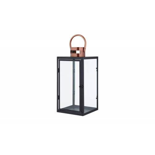 Höffner Laterne mit Henkel ¦ kupfer ¦ Glas , Metall