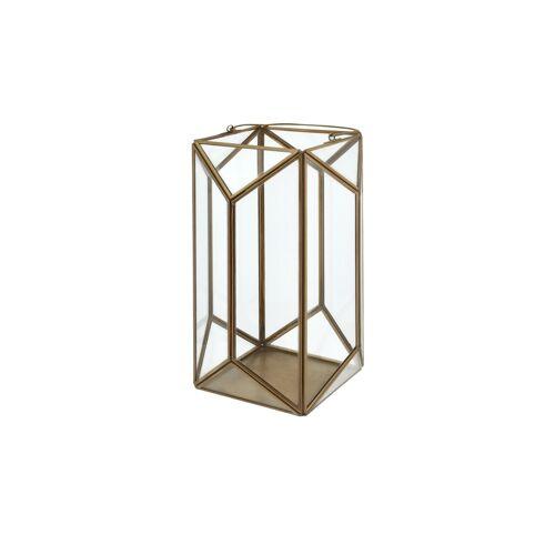 Höffner Laterne ¦ gold ¦ Glas , Metall Ø: 18