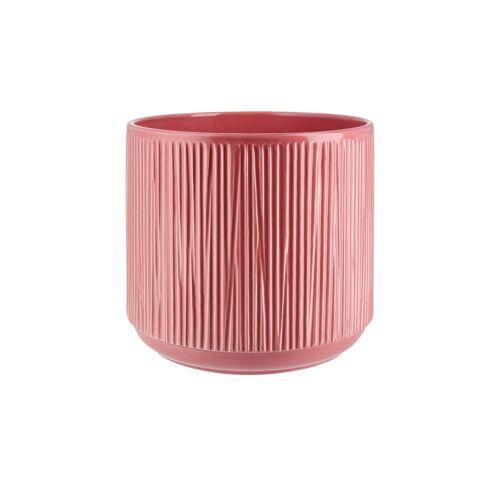 Höffner Übertopf ¦ rosa/pink ¦ Keramik Ø: 20