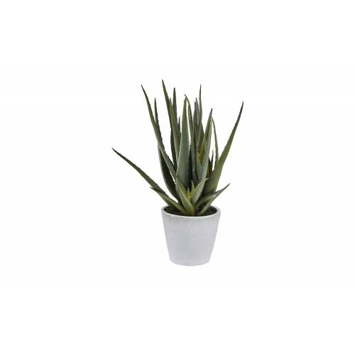Höffner Aloe im Topf  Kunstblume ¦ grün ¦ Kunststoff, Keramik