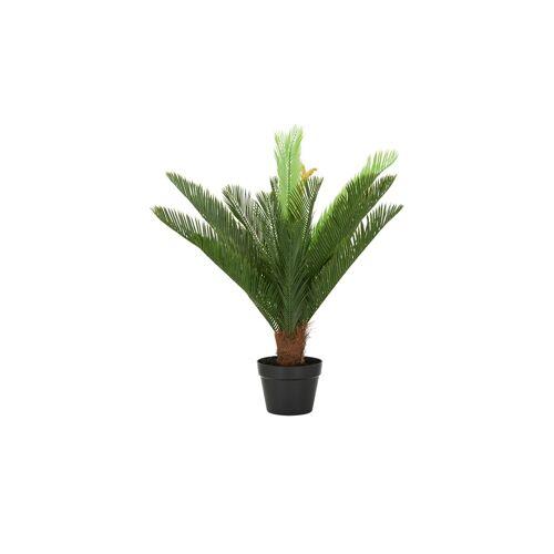 Höffner Cycas im Topf ¦ grün ¦ Kunststoff Ø: 80