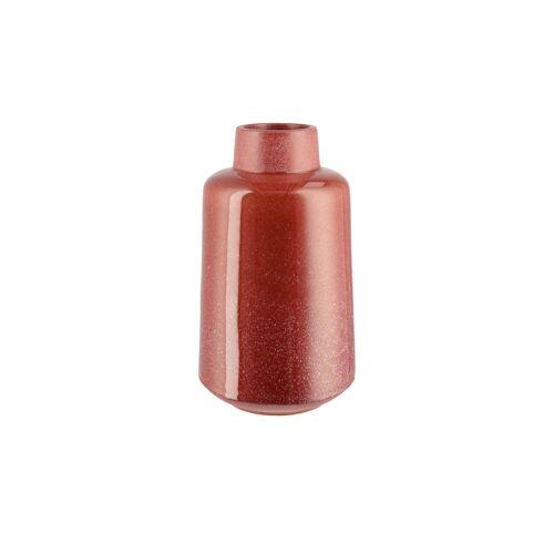 Höffner Vase ¦ rot ¦ Steingut ¦ Maße (cm): B: 17,5 H: 30 T: 17,5