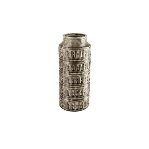 Höffner Vase ¦ grau ¦ Steingut ¦ Maße (cm): H: 31 Ø: 12.6