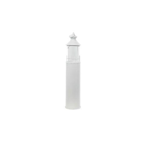 Höffner Laterne   Leuchtturm ¦ weiß ¦ Glas , Metall ¦ Maße (cm): H: 99 Ø: 21