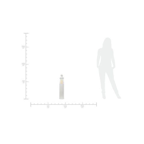 Höffner Laterne   Leuchtturm ¦ weiß ¦ Metall, Glas Ø: 15.5