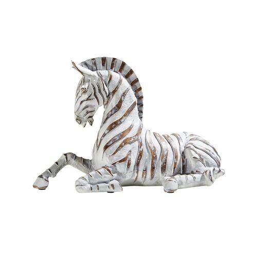 Höffner Dekofigur   Zebra ¦ braun ¦ Polyresin (Kunstharz) ¦ Maße (cm): B: 28,