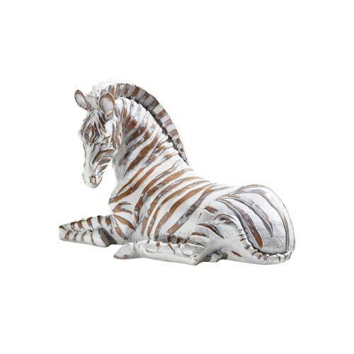 Höffner Dekofigur   Zebra ¦ braun ¦ Polyresin (Kunstharz) ¦ Maße (cm): B: 24