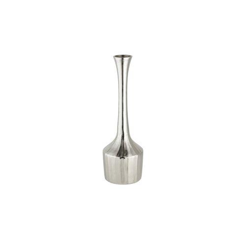 Höffner Vase ¦ silber ¦ Metall ¦ Maße (cm): H: 49 Ø: 14