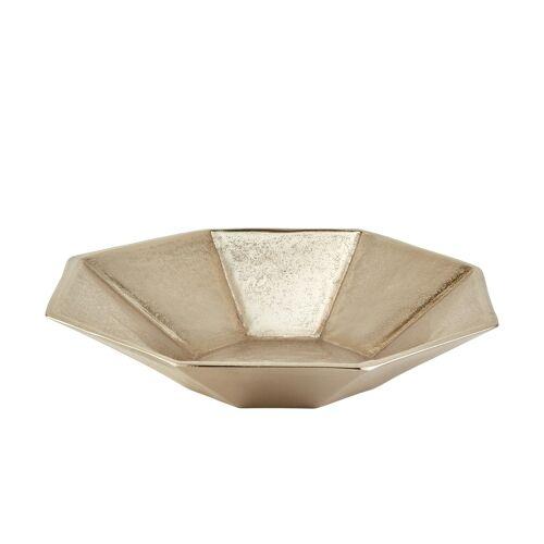 Höffner Schale ¦ gold ¦ Metall ¦ Maße (cm): B: 32,5 T: 32,5