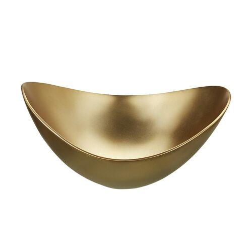 Höffner Deko Schale ¦ gold ¦ MetallØ: 25
