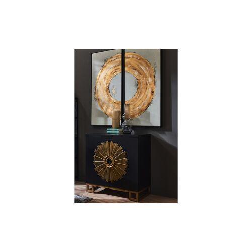 Höffner Vase ¦ gold ¦ MetallØ: 16