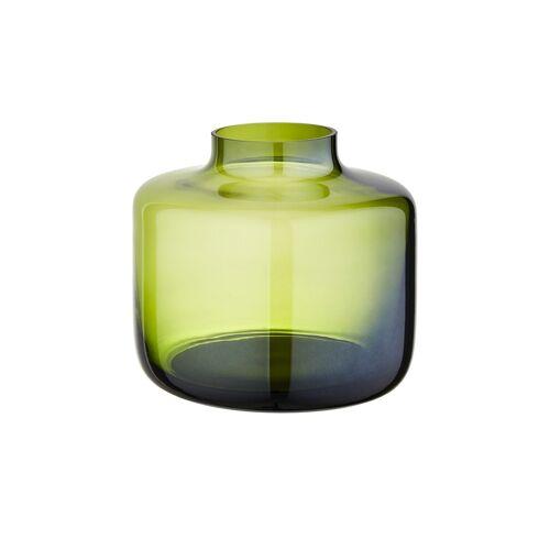 Peill+Putzler Vase ¦ grün ¦ Glas  ¦ Maße (cm): H: 18 Ø: 19.5