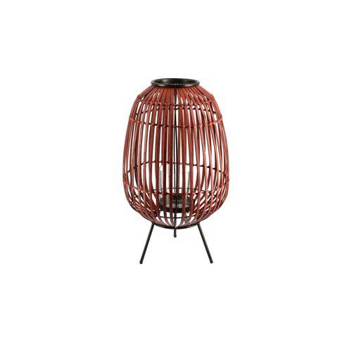Höffner Windlicht ¦ rot ¦ Bambus, Metall, Glas  ¦ Maße (cm): H: 45 Ø: 26.5