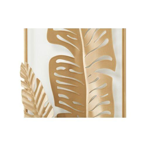 Höffner Wanddekoration  Blätter ¦ gold ¦ Metall ¦ Maße (cm): B: 76,8 H: 31