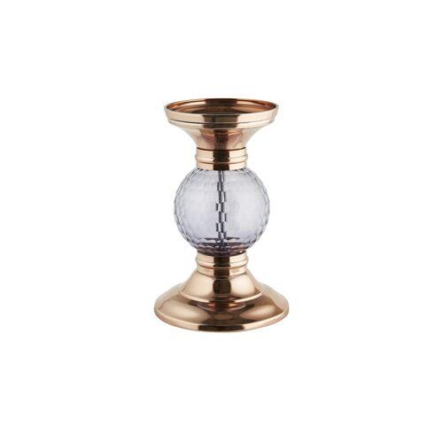 Höffner Kerzenhalter ¦ kupfer ¦ Metall, Glas  ¦ Maße (cm): H: 21 Ø: 13