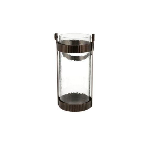 Höffner Windlicht ¦ kupfer ¦ Metall, Glas  ¦ Maße (cm): B: 14,3 H: 27,2 T: 14