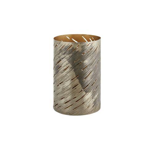 Höffner Windlicht ¦ gold ¦ Metall ¦ Maße (cm): H: 20,5 Ø: 13