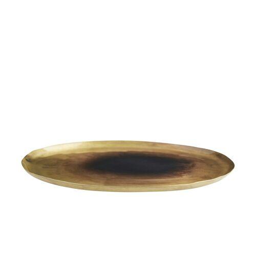 Höffner Deko Teller ¦ gold ¦ Metall ¦ Maße (cm): B: 28 H: 1 T: 26