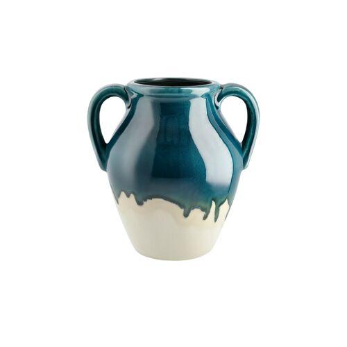 Höffner Vase ¦ blau ¦ Steingut ¦ Maße (cm): B: 24,5 H: 25,5 T: 19,5 Ø: 24.5
