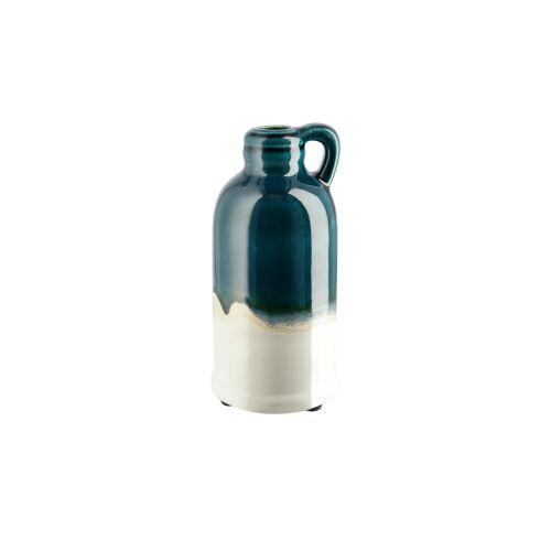 Höffner Vase ¦ blau ¦ Steingut ¦ Maße (cm): H: 20,5 Ø: 10