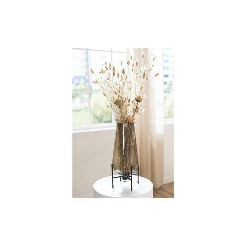 Peill+Putzler Vase mit Metallgestell ¦ braun ¦ Glas , Metall ¦ Maße (