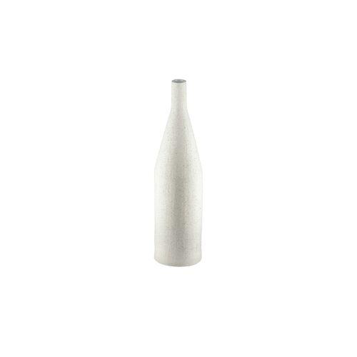 Höffner Vase ¦ weiß ¦ SteingutØ: 15.6