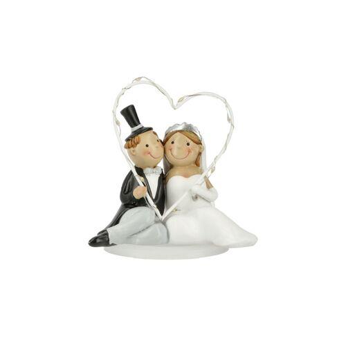 Höffner LED Hochzeitspaar ¦ weiß ¦ Polyresin (Kunstharz) ¦ Maße (cm): B: 12 H