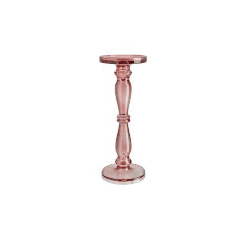 Höffner Kerzenständer ¦ rosa/pink ¦ Glas  ¦ Maße (cm): H: 35 Ø: 13