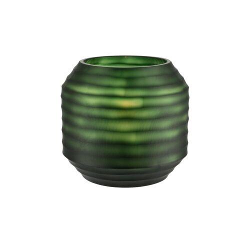 Peill+Putzler Vase ¦ grün ¦ Glas  ¦ Maße (cm): H: 18,5 Ø: 20
