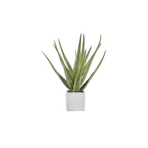 Höffner Aloe im Keramiktopf  Kunstblume ¦ grün ¦ Kunststoff, Keramik ¦ Maße (